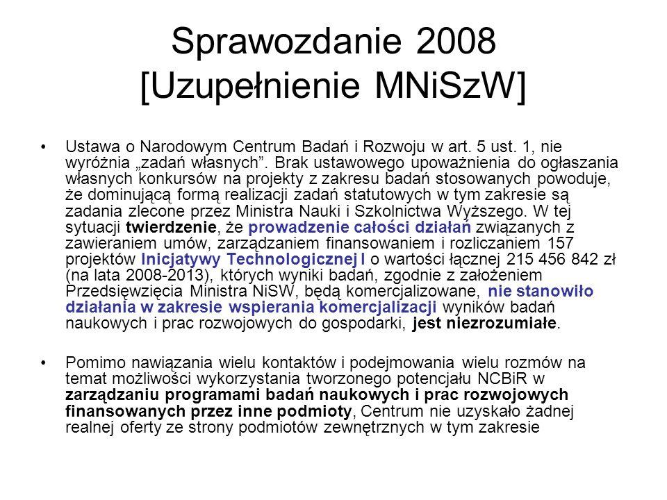 Sprawozdanie 2008 [Uzupełnienie MNiSzW]